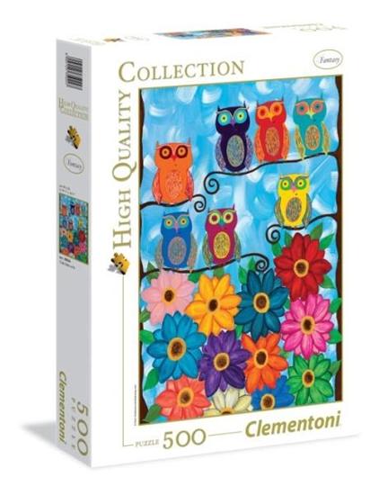 Clementoni Puzzle 500el HQ Cute little owls 35024 (35024 CLEMENTONI)