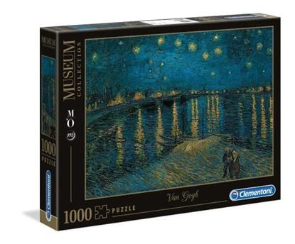 Clementoni Puzzle 1000el Museum Van Gogh: Gwiaździsta noc nad Rodanem 39344 p6, cena za 1szt. (39344 CLEMENTONI)