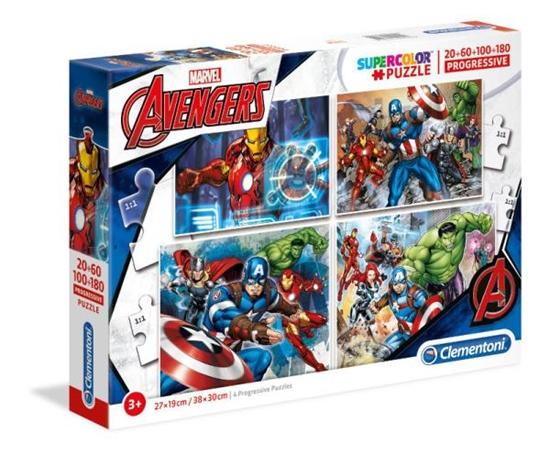 Clementoni Puzzle 20+60+100+180 The Avengers 07722 p6 (07722 CLEMENTONI)