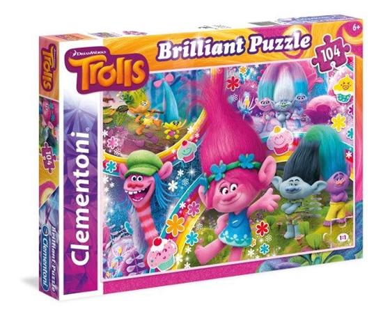 Clementoni Puzzle 104el Brillant Trolls 20144 (20144 CLEMENTONI)