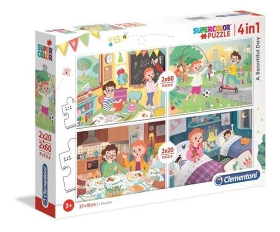 Clementoni Puzzle 2x20+2x60el SUPER KOLOR Piękny dzień 21306 p6 (21306 CLEMENTONI)