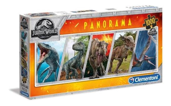 Clementoni Puzzle 1000el Panorama Jurassic World 39471 p6, cena za 1szt. (39471 CLEMENTONI)