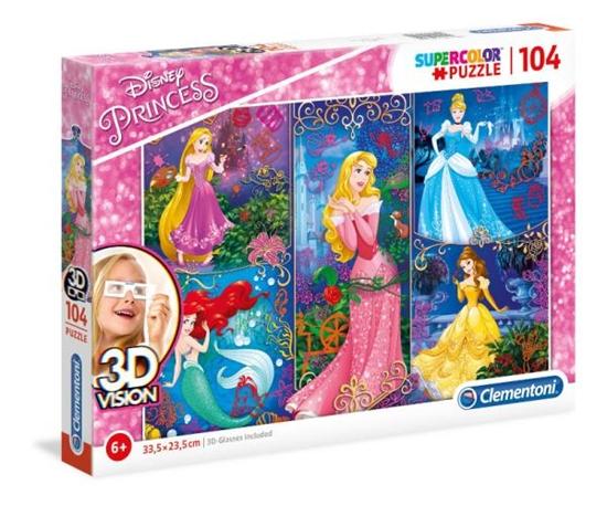 Clementoni Puzzle 104el 3D VISION Princess 20609 (20609 CLEMENTONI)