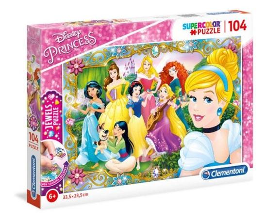 Clementoni Puzzle 104el z ozdobami Princess 20147 p6, cena za 1szt. (20147 CLEMENTONI)