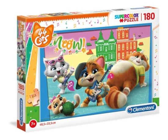 Clementoni Puzzle 180el  44 Koty 29763 p6 (29763 CLEMENTONI)