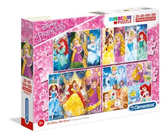 Clementoni Puzzle 20+60+100+180 Princess 07721 p6 (07721 CLEMENTONI)