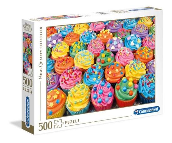 Clementoni Puzzle 500el HQC Colorful Cupcakes 35057 (35057 CLEMENTONI)