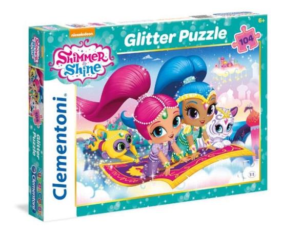 Clementoni Puzzle 104el z brokatem Shimmer and Shine 27991 p6, cena za 1szt. (27991 CLEMENTONI)