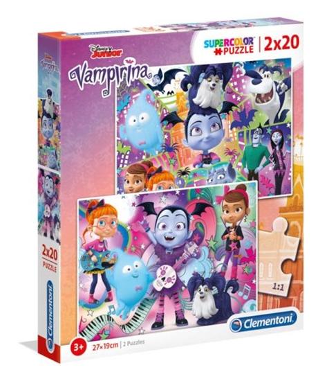 Clementoni Puzzle 2x20el Vampirina 07033 p6, cena za 1szt. (07033 CLEMENTONI)