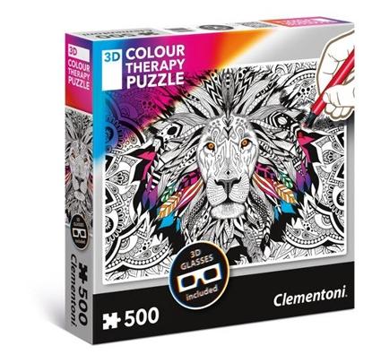 Clementoni Puzzle 500el 3D Color Therapy - Lew 35051 p6 (35051 CLEMENTONI)