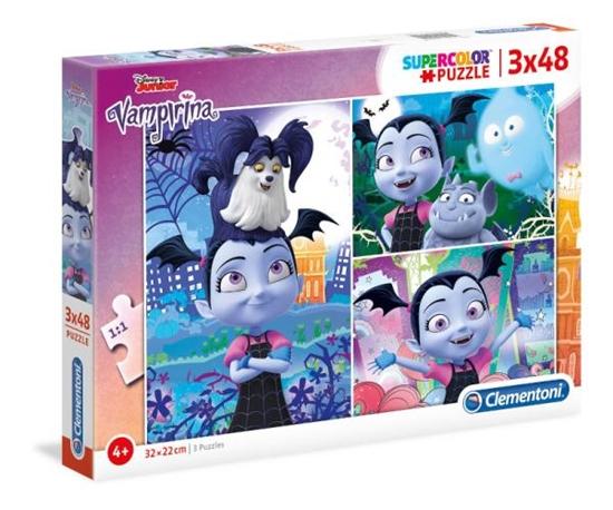 Clementoni Puzzle 3x48el Vampirina 25229 p6, cena za 1szt. (25229 CLEMENTONI)