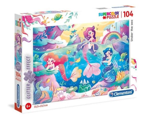 Clementoni Puzzle 104el Glitter Under the sea 20149 (20149 CLEMENTONI)