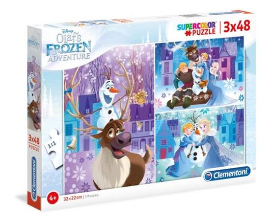 Clementoni Puzzle 3x48el Olaf's Frozen Adventure 25228 p6, cena za 1szt. (25228 CLEMENTONI)