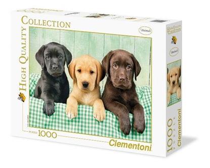 Clementoni Puzzle 1000el HQ Trzy labradory 39279 (39279 CLEMENTONI)