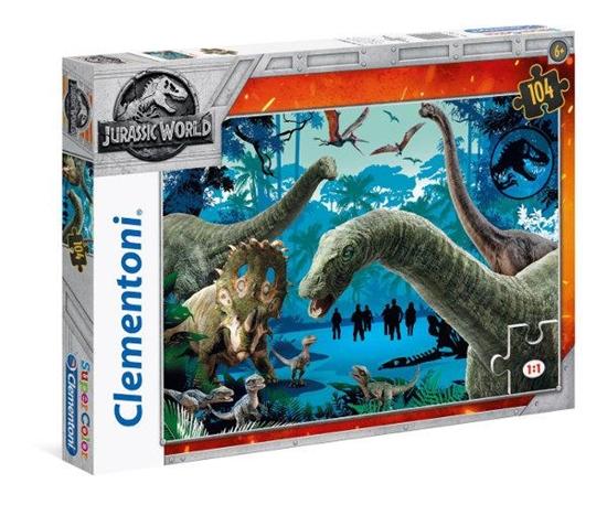 Clementoni Puzzle 104el Jurassic World 1 27098 (27098 CLEMENTONI)