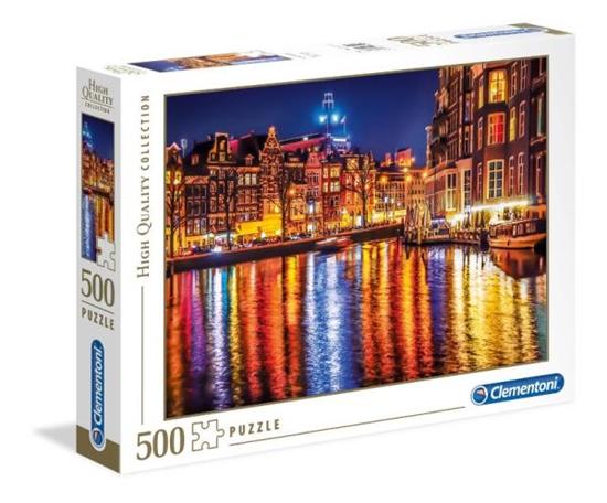 Clementoni Puzzle 500el Amsterdam nocą 35037 p6, cena za 1szt. (35037 CLEMENTONI)