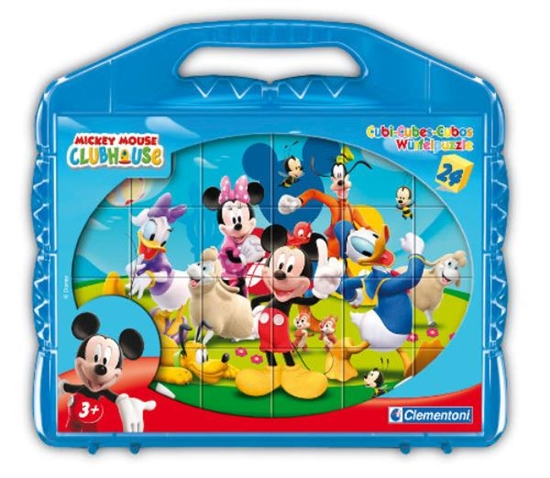 Clementoni Klocki Cubes 24el Klub Myszki Miki 42495 p12, cena za 1szt. (42495 CLEMENTONI)