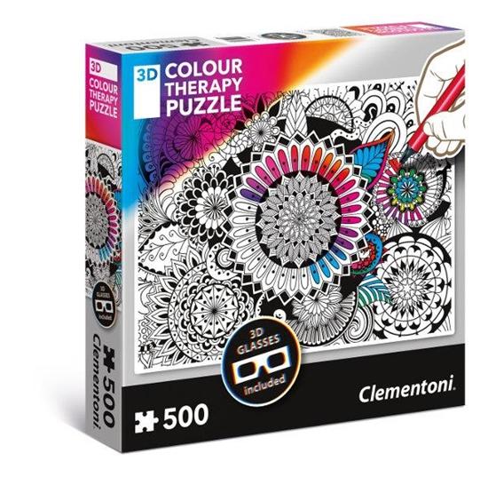 Clementoni Puzzle 500el 3D Color Therapy - Kwiaty 35053 p6 (35053 CLEMENTONI)