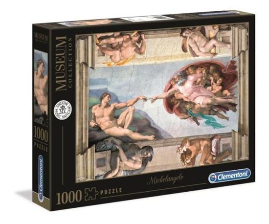Clementoni Puzzle 1000el Museum Michelangelo: Stworzenie człowieka 39496 p6 (39496 CLEMENTONI)