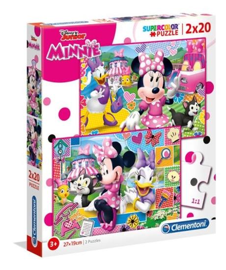 Clementoni Puzzle 2x20el Minnie Happy Helpers 24750 p6, cena za 1szt. (24750 CLEMENTONI)