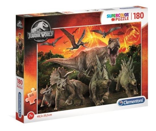 Clementoni Puzzle 180el SUPER KOLOR Jurassic World 29299 p6 (29299 CLEMENTONI)