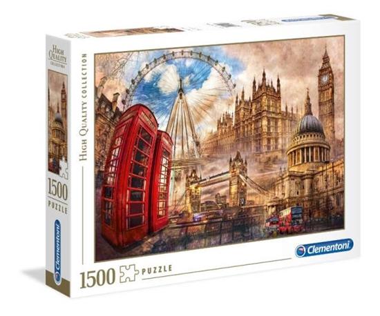 Clementoni Puzzle 1500el HQC Vintage London 31807 p6, cena za 1szt. (31807 CLEMENTONI)
