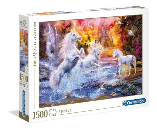Clementoni Puzzle 1500el HQC Wild unicorns Dzikie Jednorożce 31805 p6, cena za 1szt. (31805 CLEMENTONI)