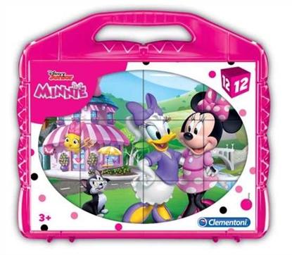 Clementoni Klocki obrazkowe 12el Minnie Happy Helper 41184 p12, cena za 1szt. (41184 CLEMENTONI)