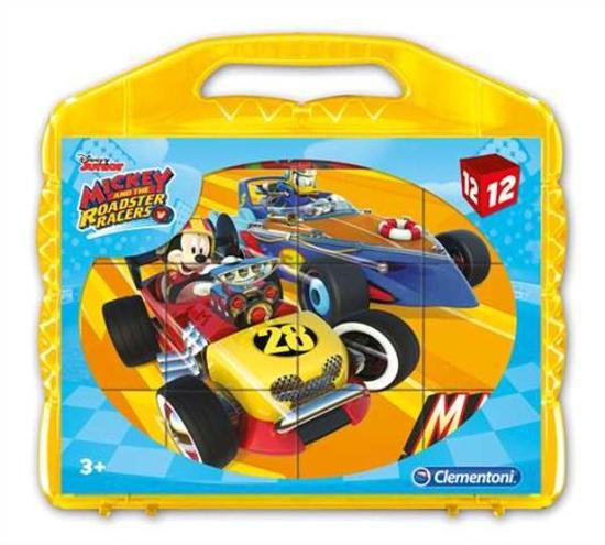 Clementoni Klocki Cubes 12el Mickey i rajdowcy 41183 p12, cena za 1szt. (41183 CLEMENTONI)