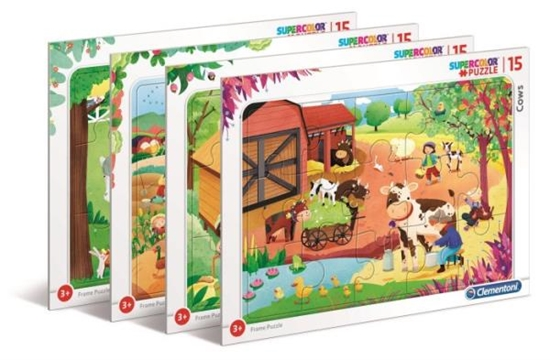 Clementoni Puzzle ramkowe 15el SUPER KOLOR Farma 22233 p6 (22233 CLEMENTONI)