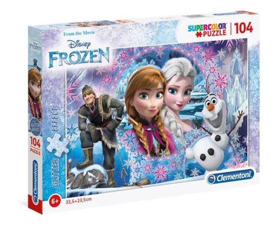 Clementoni Puzzle 104el Frozen brokat 27248 (27248 CLEMENTONI)
