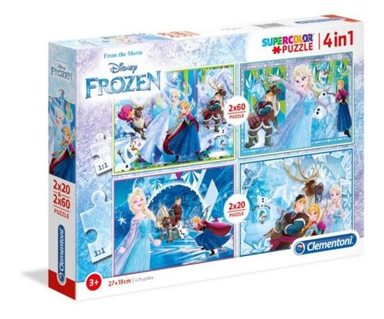 Clementoni Puzzle 4w1 (2x20el + 2x60el) Frozen 2018 07614 p6, cena za 1szt. (07614 CLEMENTONI)