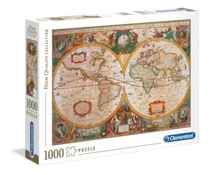 Clementoni Puzzle 1000el Mappa antica 31229 (31229 CLEMENTONI)