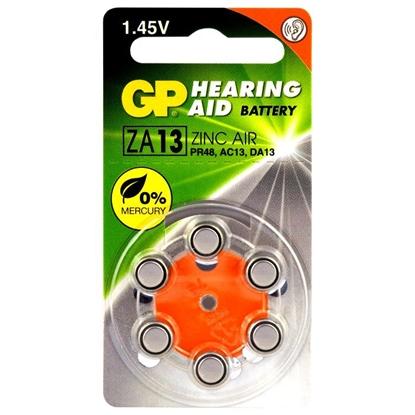 6 x baterie do aparatów słuchowych GP 13 / ZA13 / PR48