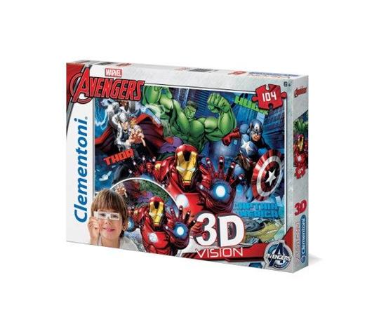 Clementoni Puzzle 104el 3D Avengers 20606 (20606 CLEMENTONI)