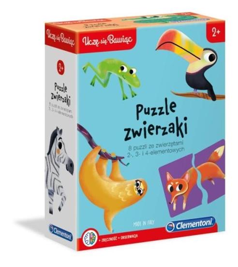 Clementoni Puzzle Zwierzaki Uczę się Bawiąc 50074 p6, cena za 1szt. (50074 CLEMENTONI)