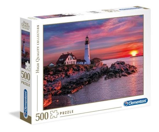 Clementoni Puzzle 500el HQC Portland Latarnia morska 35049 (35049 CLEMENTONI)