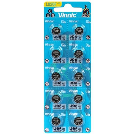 10 x bateria alkaliczna mini Vinnic G7 / AG7 / LR57 / LR927