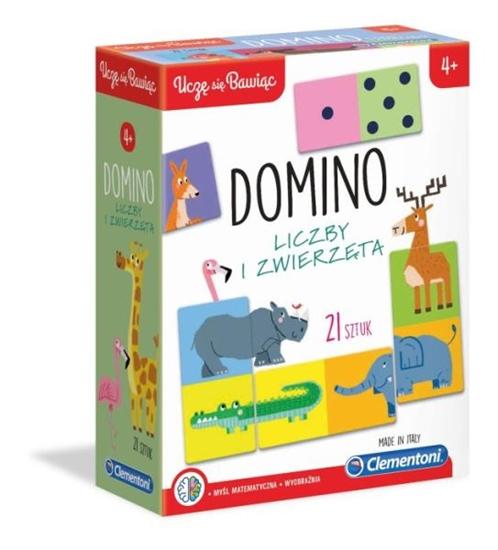 Clementoni Domino Liczby i zwierzęta 50083 p6, cena za 1szt. (50083 CLEMENTONI)