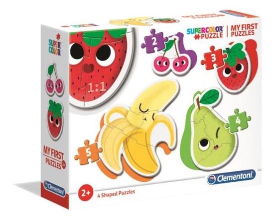 Clementoni Moje Pierwsze Puzzle 2-3-4-5 Owoce 20815 (20815 CLEMENTONI)