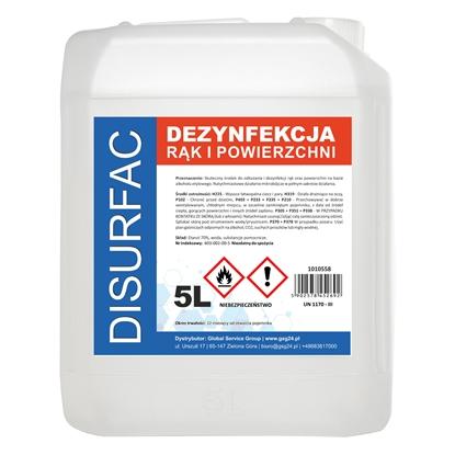 DISURFAC ETANOL 70 Płyn do dezynfekcji rąk i powierzchni 5L