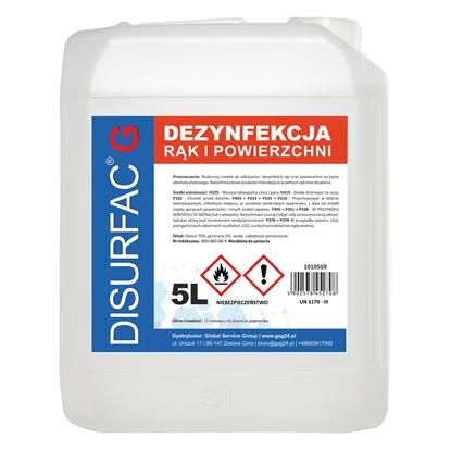 DISURFAC G ETANOL 70 Płyn do dezynfekcji rąk i powierzchni z gliceryną 5L