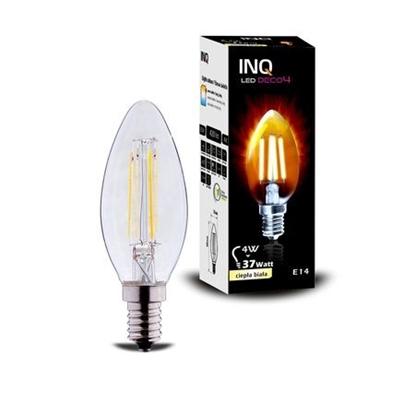 LAMPA LED  DECO 4 E14 ŚWIECZKA B35 EDISON 4W 420lm 2700K INQ