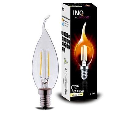 LAMPA LED  DECO 2 E14 ŚWIECZKA BXS35 EDISON 2W 220lm 2700K INQ