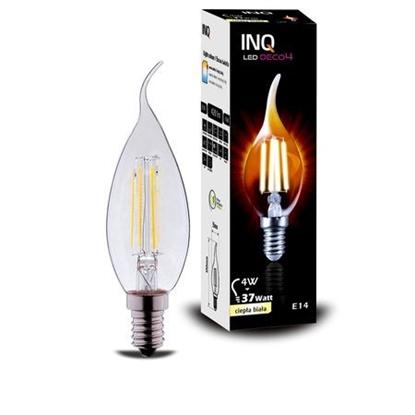 LAMPA LED  DECO 4 E14 ŚWIECZKA BXS35 EDISON 4W 420lm 2700K INQ