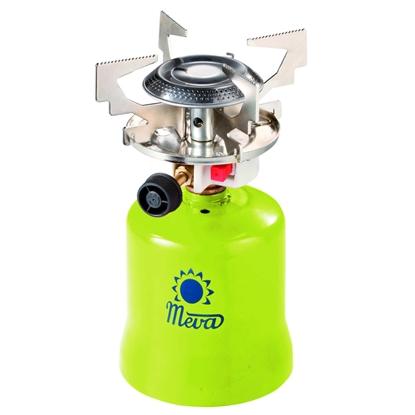 Kuchenka turystyczna na gaz na kartusze gazowe nakłuwane FOCUS piezo zapalnik 1.4kW