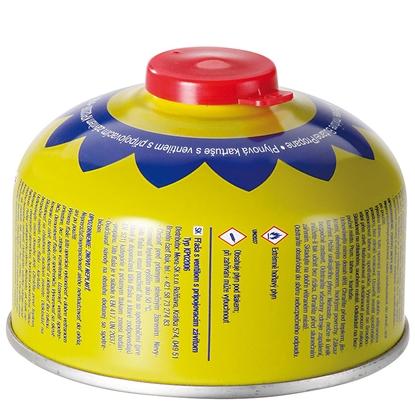 Kartusz wkład nabój gazowy z zaworem i gwintem do kuchenki turystycznej PB 100g
