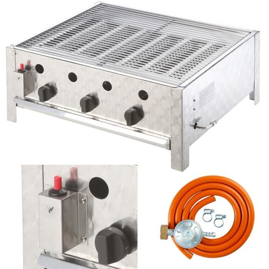 Grill gazowy gastronomiczny 3 - palnikowy z rusztem RASCAL 10 kW