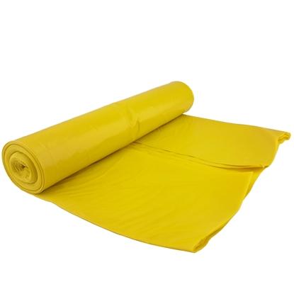 Worki na odpadki śmieci grube 80 mikr. wytrzymałe rolka 15szt. - żółte 120L