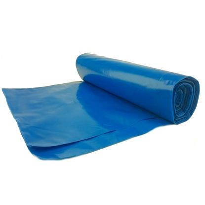 Worki na odpadki śmieci grube 50 mikr. wytrzymałe rolka 25szt. - niebieskie 70L